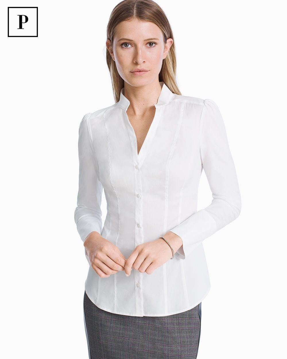 6f2b70660f8e5 Women s Petite Basic Poplin Shirt by WHBM