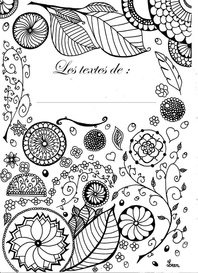Page de garde de cahier textes page de garde for Journal art et decoration