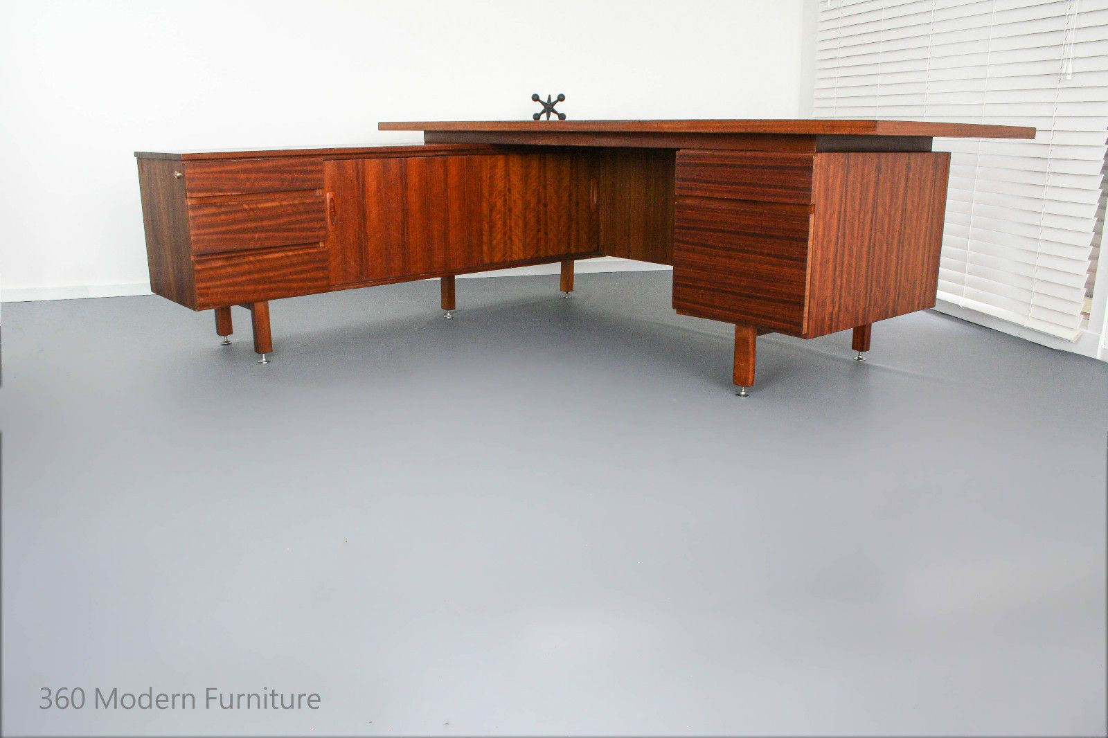 Mid Century Executive Desk Orig Return Table Vintage Retro Scandi Room Divider Buy Office Furniture Modern Furniture Furniture