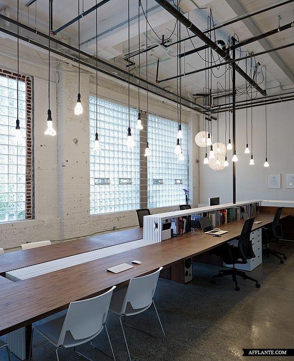 "office | ""blacklaboratory"" | by blacklab architects.  Plumen bulbs available in Austrial via FSV: http://tinyurl.com/plumen"
