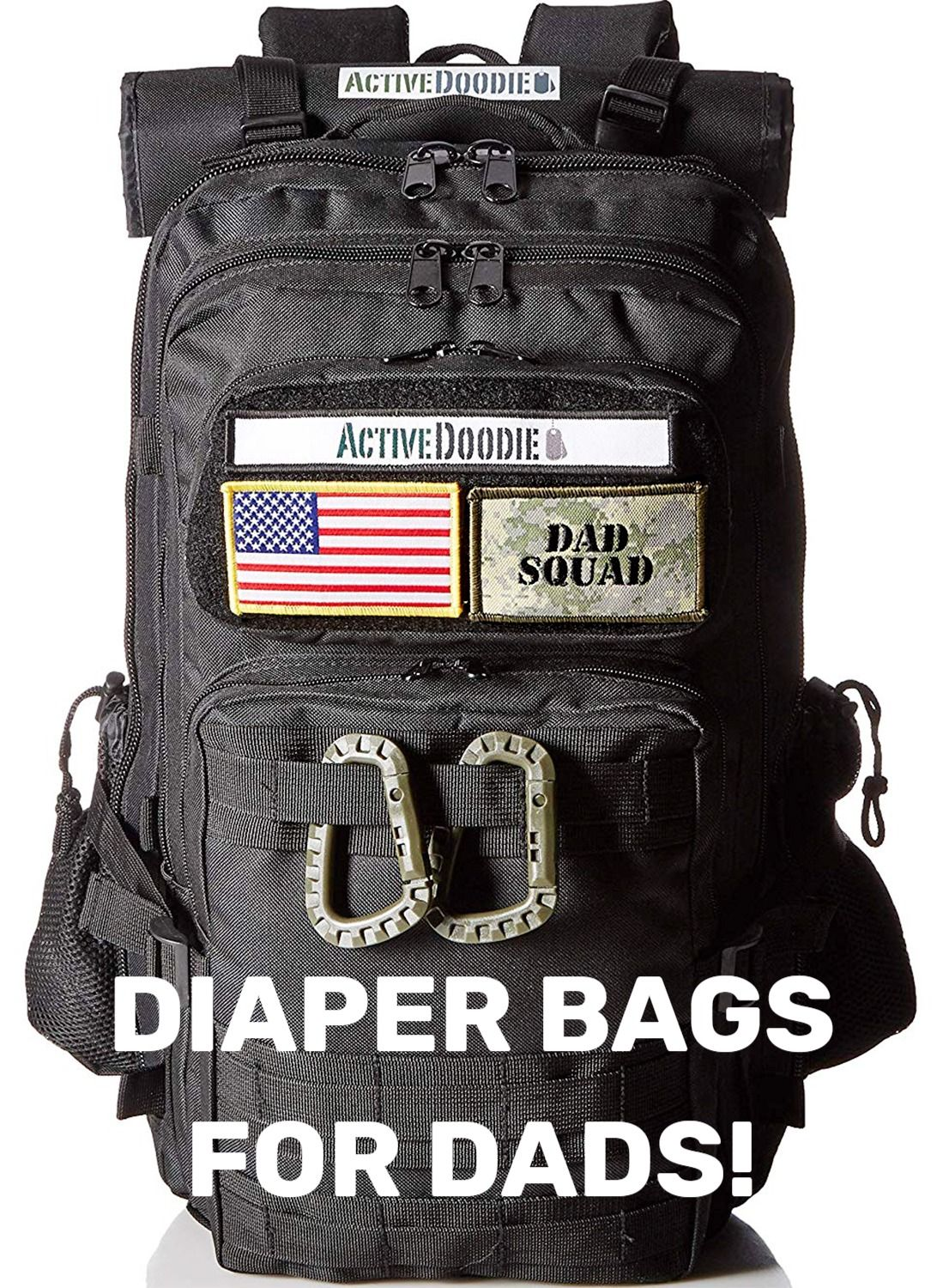Active Doodie Dads Diaper Bag Backpack, Tactical Style Dad