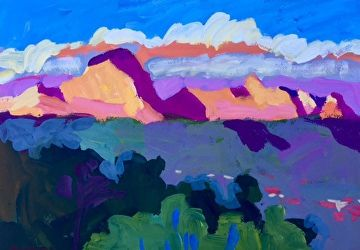 View of Sedona by Larisa Aukon Gouache ~  x