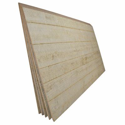 7 16 In X 4 Ft X 8 Ft Beige Engineered Untreated Knotty Barnside Siding Panel Engineered Wood Siding Wood Panel Siding Panel Siding