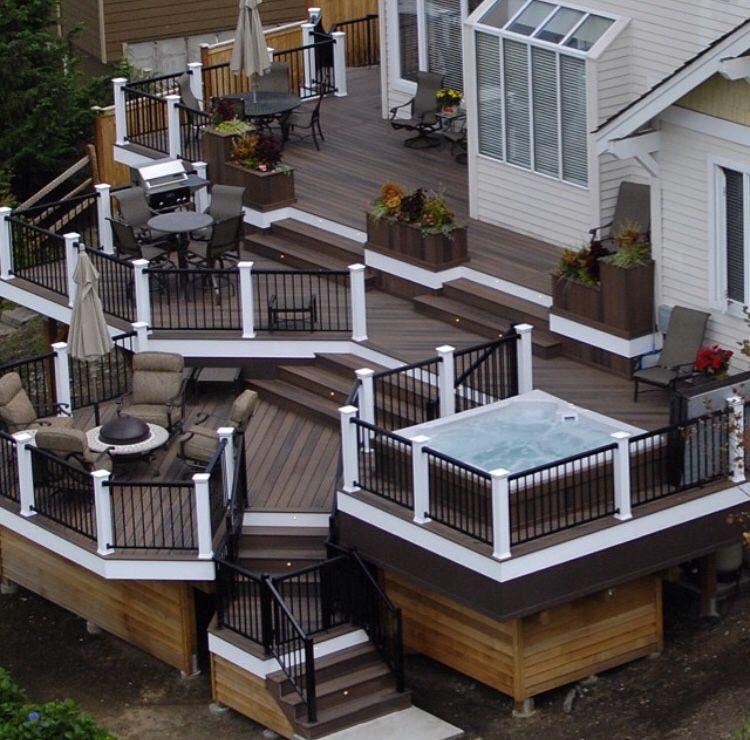 35 Cool Outdoor Deck Designs: Patio Deck Designs, Deck