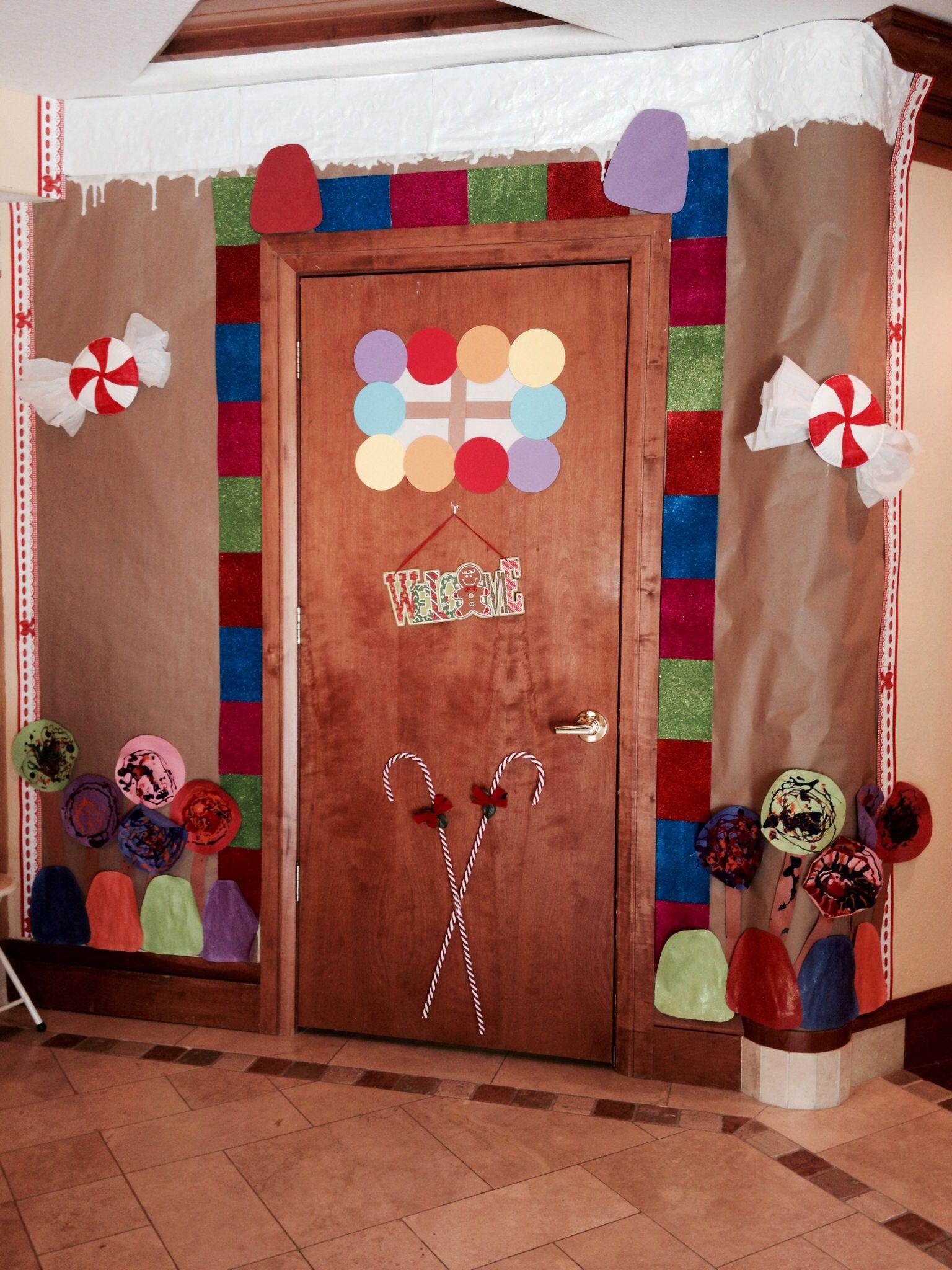 Gingerbread House Classroom Door Idea