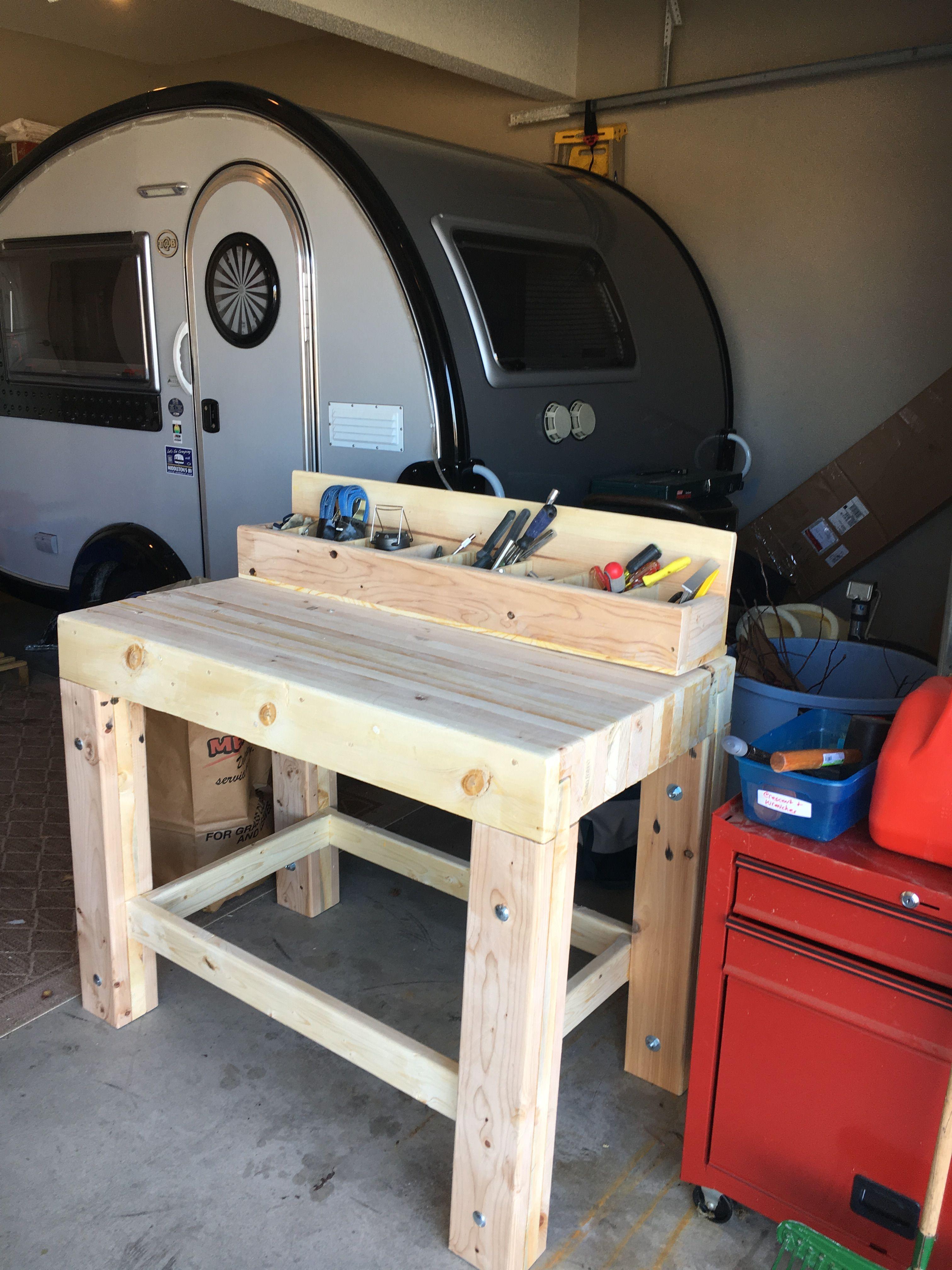 My garage workbench - I like solid stuff, 2x6 lumber, top