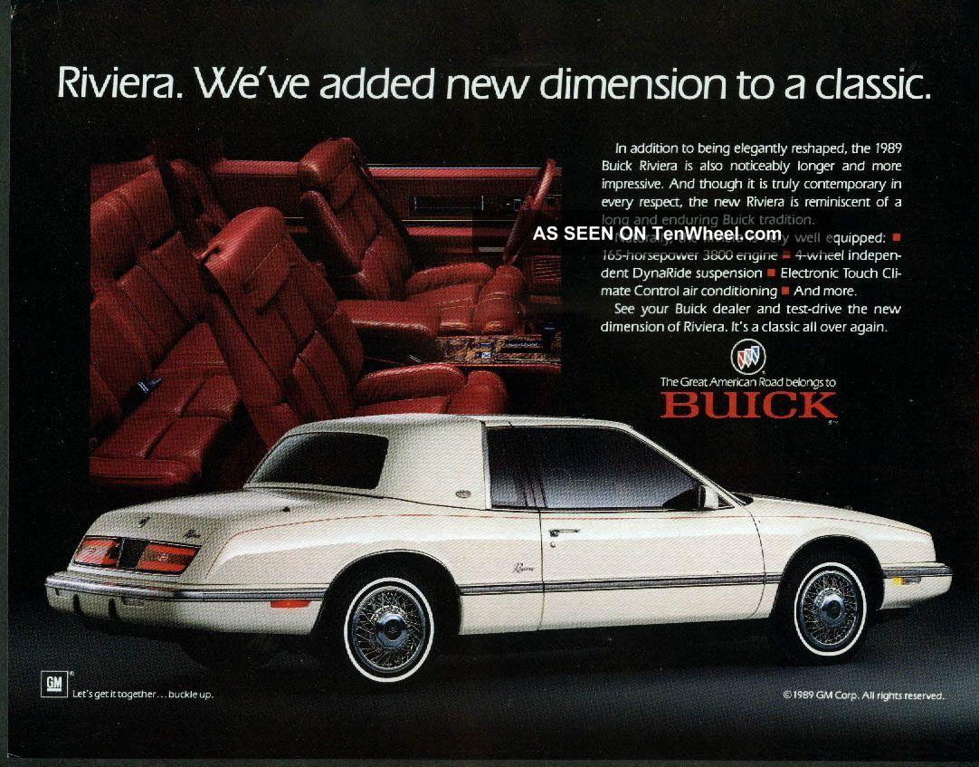 1989 buick 1989 buick riviera luxury coupe 2 door 3 8l riviera photo