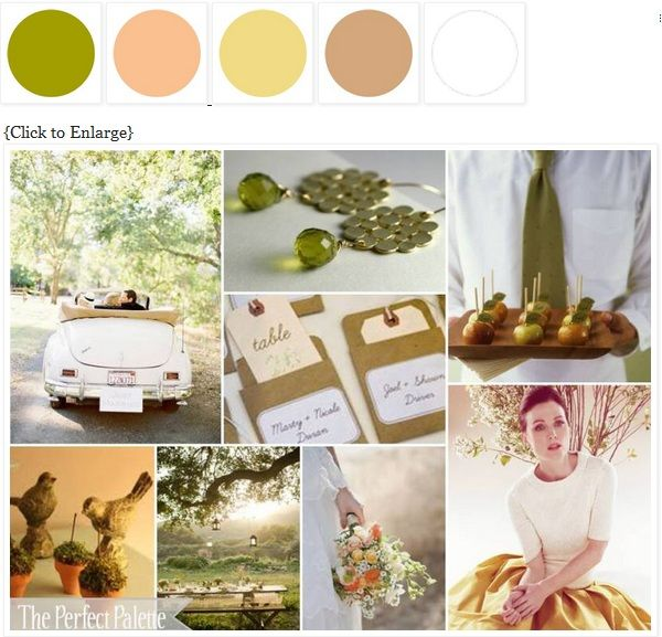 olive, peach, gold, camel, white