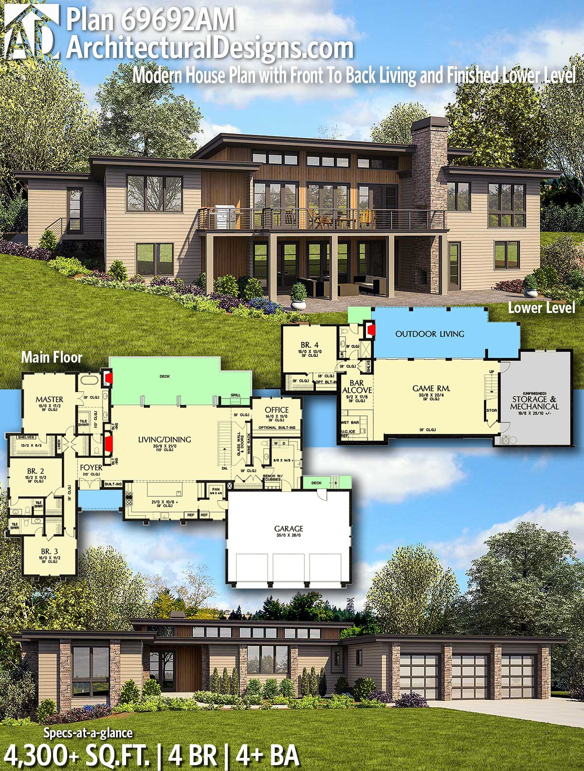 Pin On Home Plans For The Sloping Lot