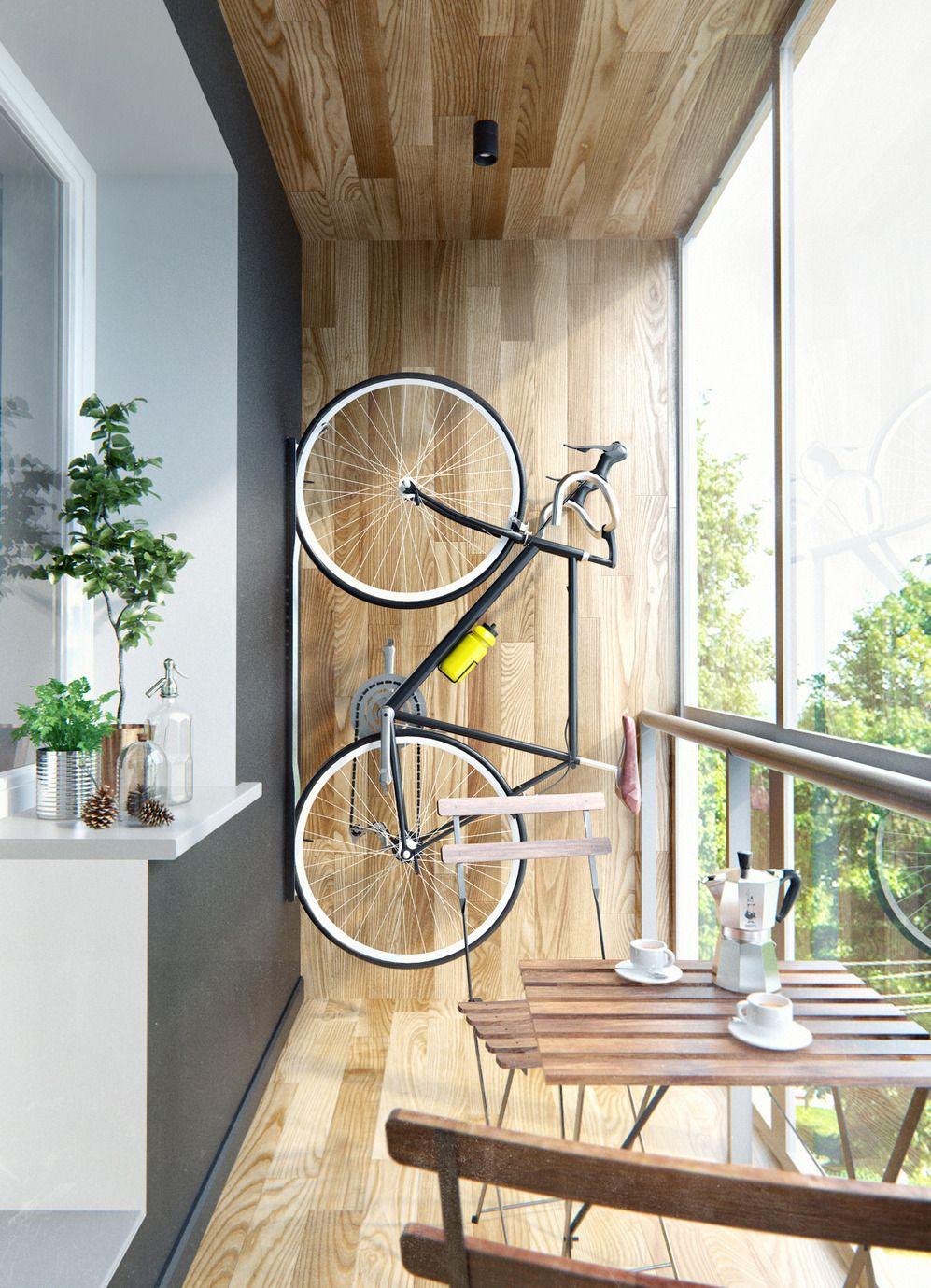 Как стильно хранить велосипед в квартире?.