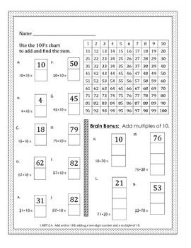 Spring Math CCSS First Grade Just Print It (Common Core