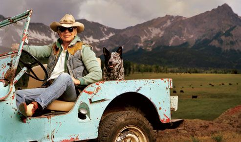 Seriously. Ralph Lauren is the mack daddy of cool. I mean look at the jeep...{LOVE}!
