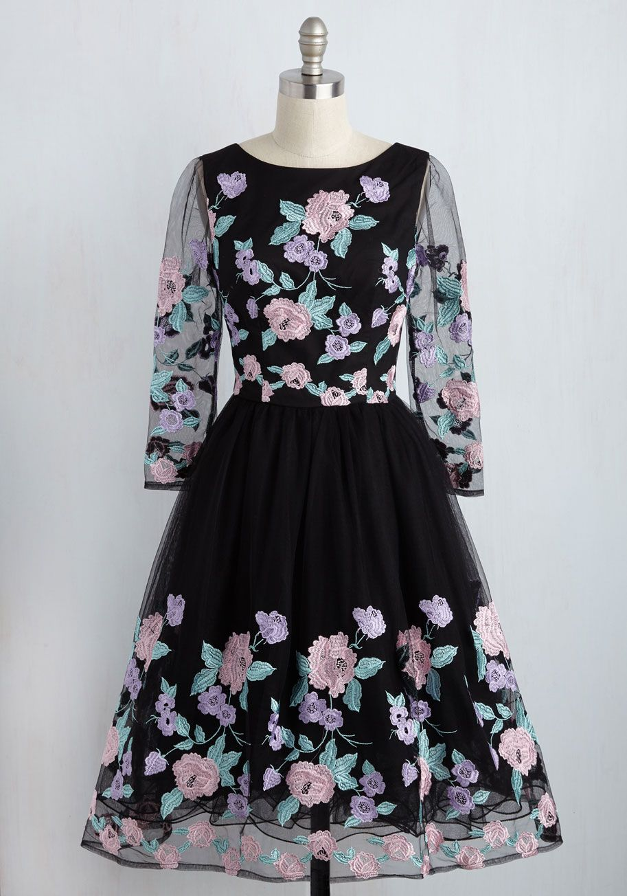 Honoring hygge dress in heather blue modcloth chi chi and prom