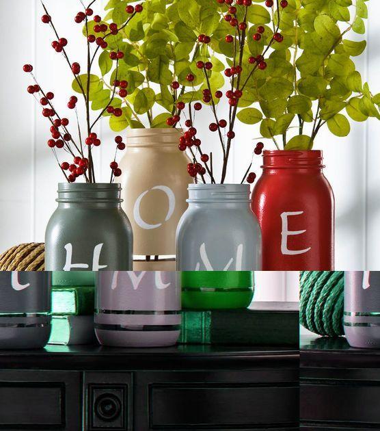 d co avec bouteilles et bocaux en verre 20 id es cr atives bocaux en verre bocal et bouteille. Black Bedroom Furniture Sets. Home Design Ideas