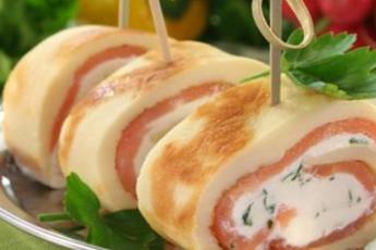 необычные рецепты закусочных рулетов с фото