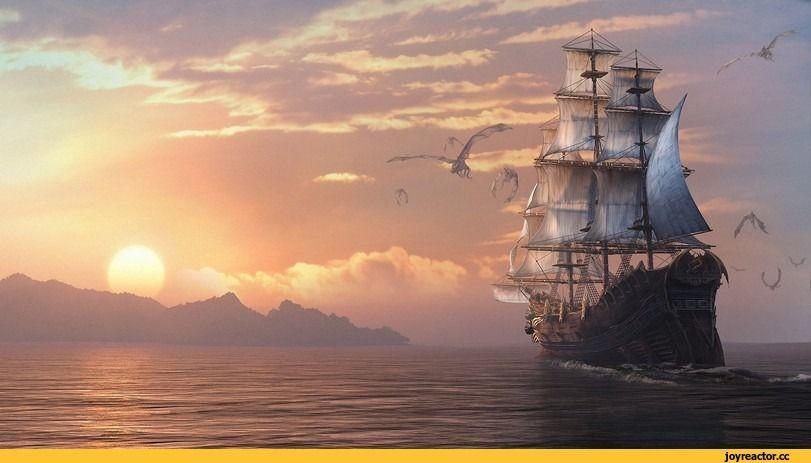 красивые картинки,art,корабль,море | Корабль, Мореплавание ...