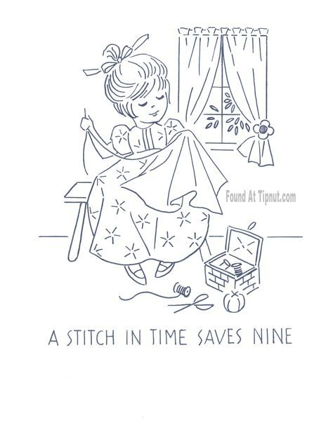 Kitchen Proverbs Embroidery Patterns