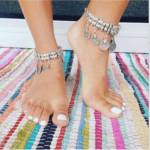 bracelet cheville hippie