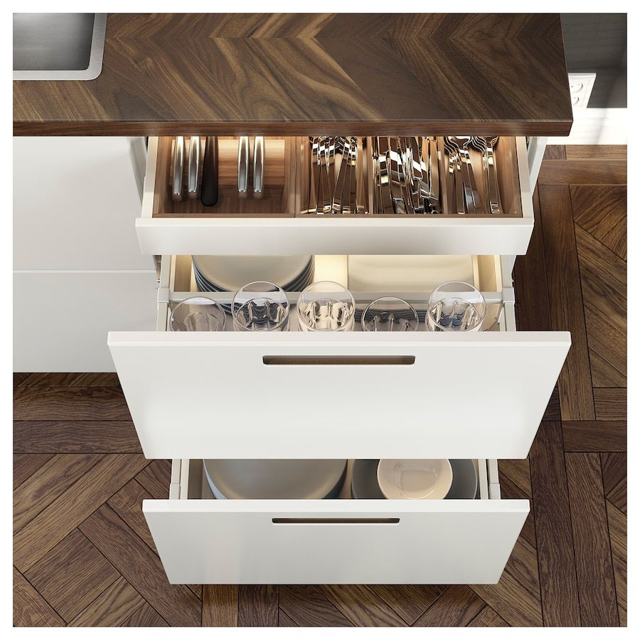 Barkaboda Countertop Walnut Veneer 98x1 1 2 Ikea Kitchen