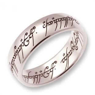 Herr der Ringe der EINE Ring Weissgold 585 (Offizieller Hersteller Herr der Ringe Schmuck)