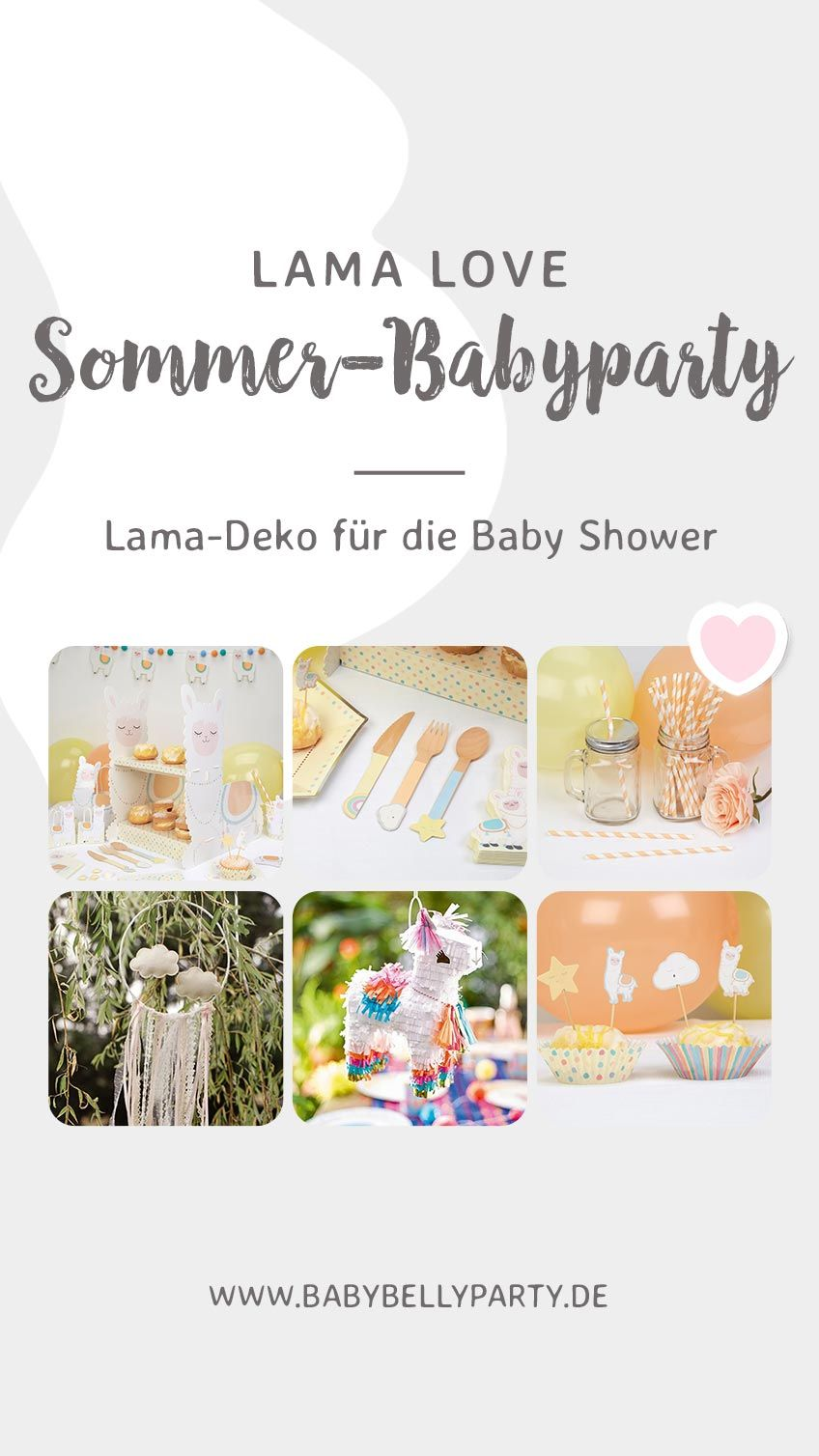 tolle deko mit lamas f r sommer mamas babyparty babyparty ideen party