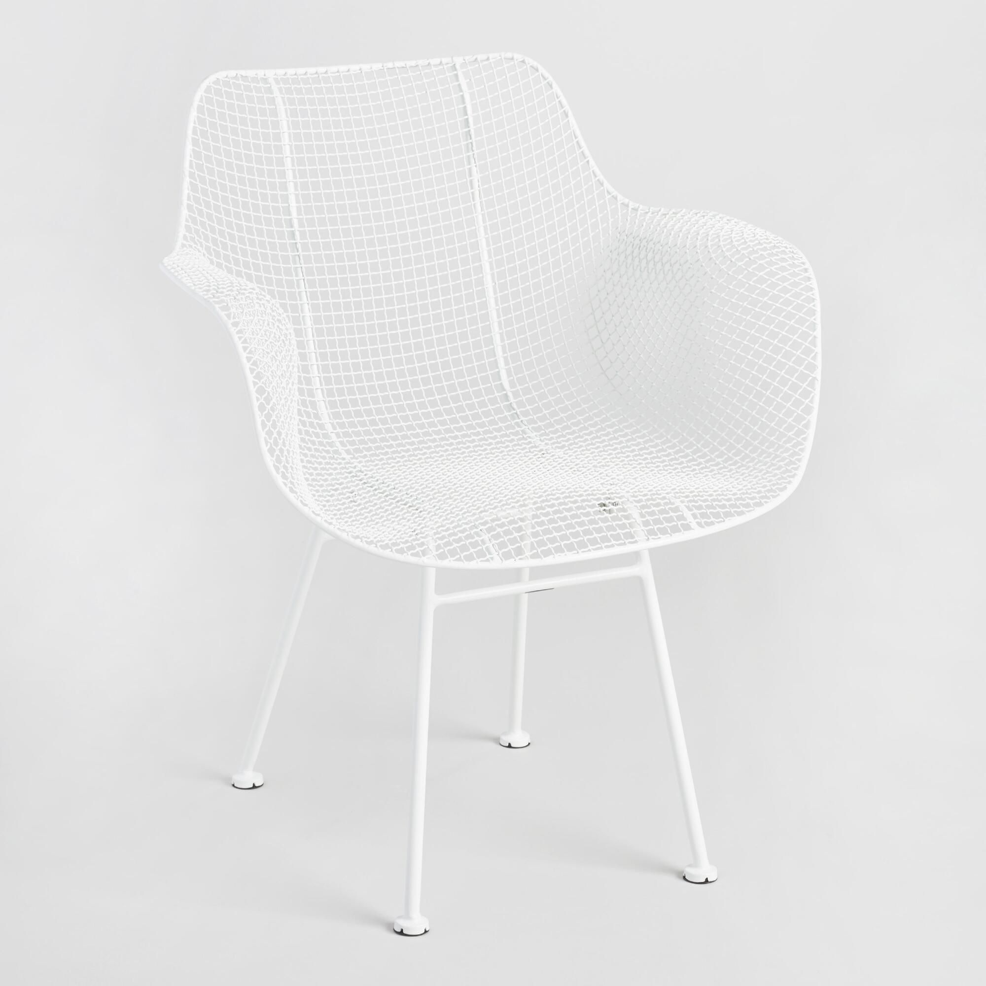 Molded plastic and metal chairs - Our Side Chairs Feature White Mesh Molded Seats That Cup The Body For Maximum Comfort