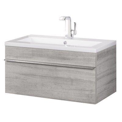 "Caitlynn 30"" Wall Mounted Single Bathroom Vanity Set | AllModern"