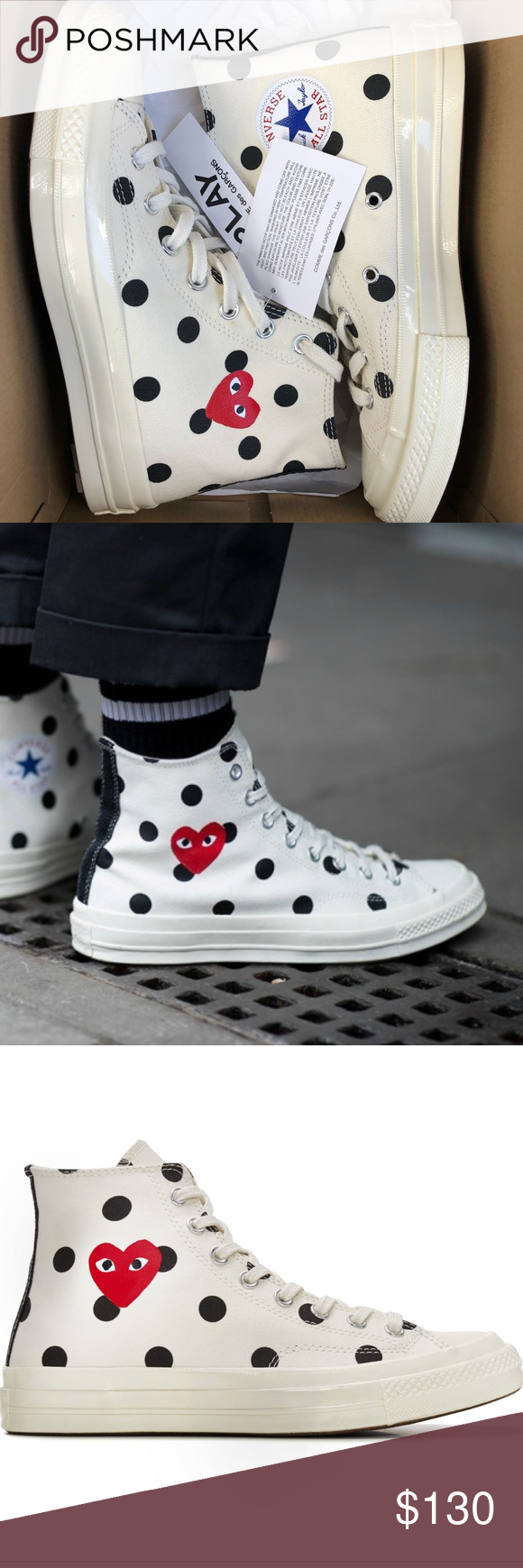 13799c003977 BRAND NEW CDG converse high tops Never been worn