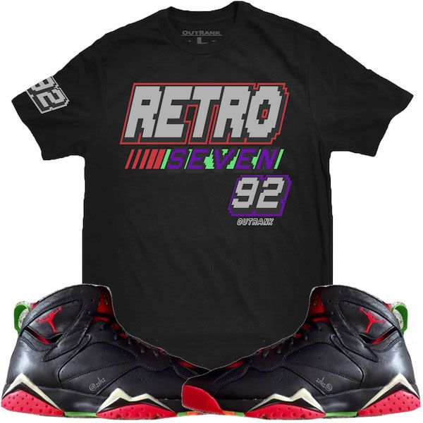 556d1ac7763444 ... Shirts and Shorts to match the Jordan Retro 7 Marvin the Martian shoes