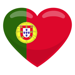 Portugal Heart Flag Portugal Flag Portuguese Culture