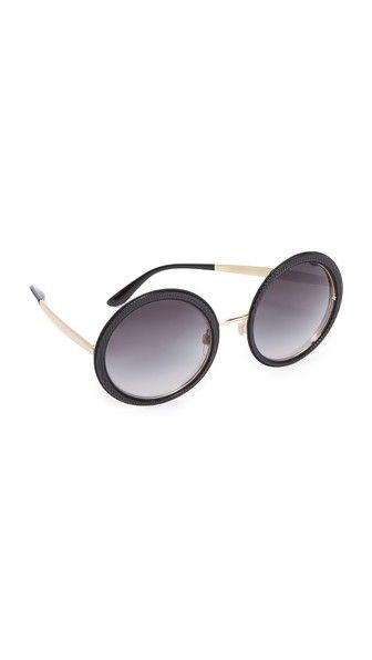 15b352f94b1c DOLCE   GABBANA Grosgrain Round Sunglasses.  dolcegabbana  sunglasses