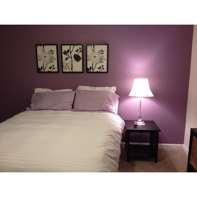 Purple Accent Wall For The Master Bed Room. Love It