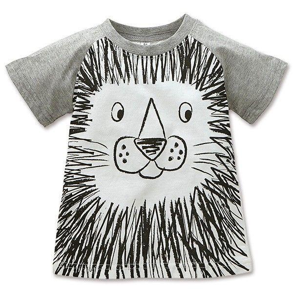 7b5b9ff0b4d12 EFD ライオンフェイスプリント半袖Tシャツ 80cm・90cm・95cm [男の子 ...