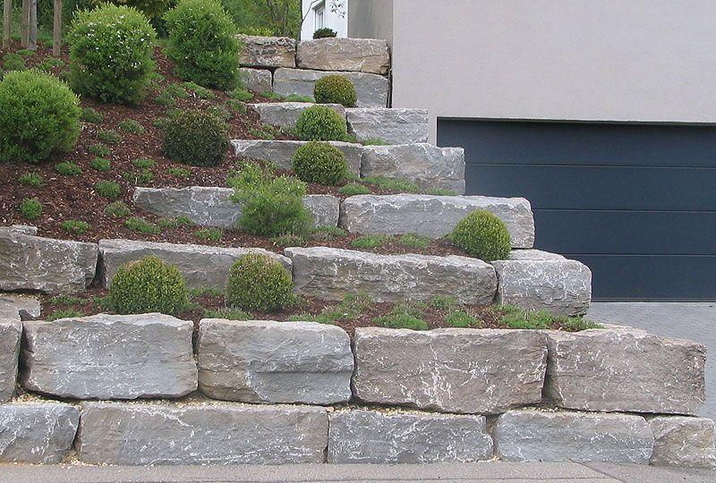 Neu Natursteinmauer aus Muschelkalk | Garten | Pinterest | Muschelkalk  EF38