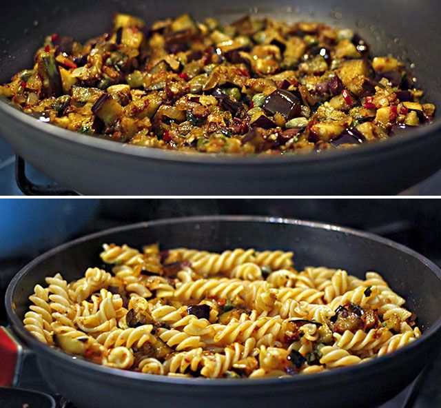 PANELATERAPIA - Blog de Culinária, Gastronomia e Receitas: Fusilli Integrale Barilla com Molho de Berinjelas