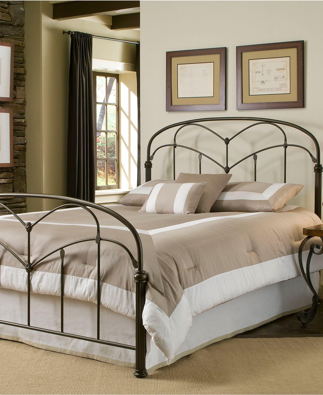 Tamara Hazelnut California King Bed Metal Bed