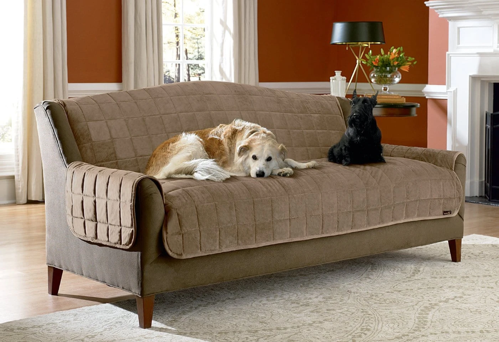 Deluxe Comfort Sofa Furniture Cover With Arms Microban Antimicrobial Pet Furniture Cover Machine Washable In 2021 Pet Furniture Covers Furniture Covers Sofa Furniture