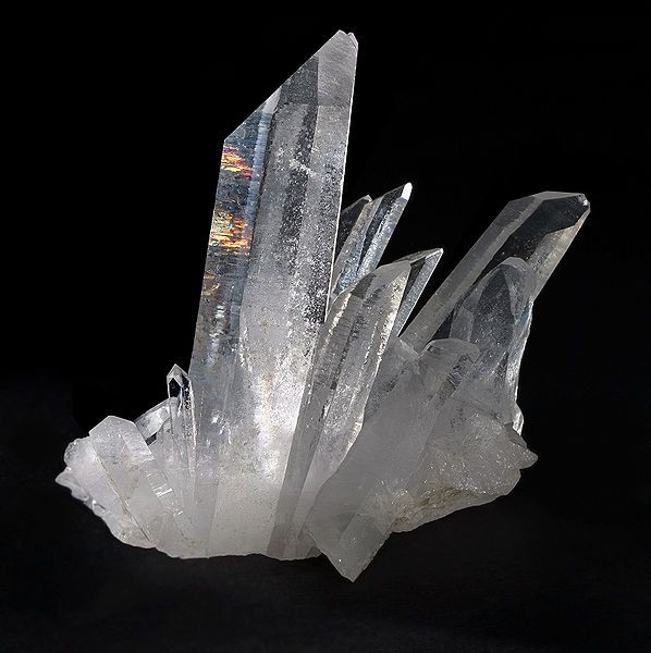 "Arkansas designated the quartz crystal as the official state Mineral in 1967. Mined in the Ouachita Mountains of Arkansas, quartz crystals are used in computers and sold to tourists. Though nicknamed ""Arkansas diamonds,"" quartz crystals are not true diamonds."