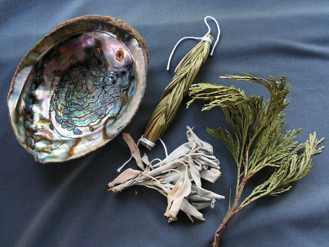 4 Medicines Tobacco, Sweet Grass, Sage and Cedar