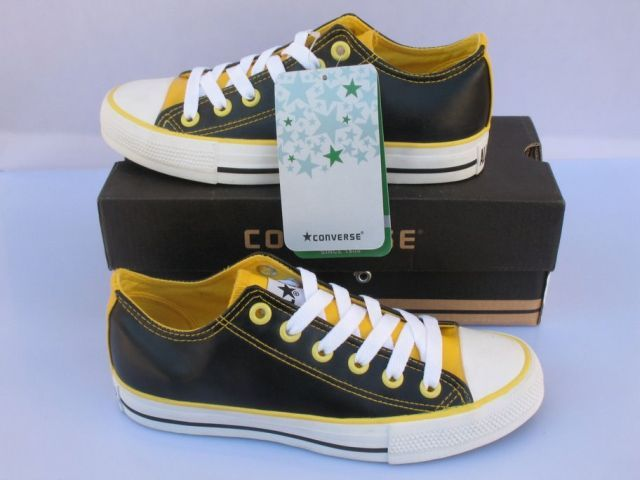 f3bc986cd592b7 ... best price converse chuck taylor all star low tops black yellow leather  abb3a a17cd