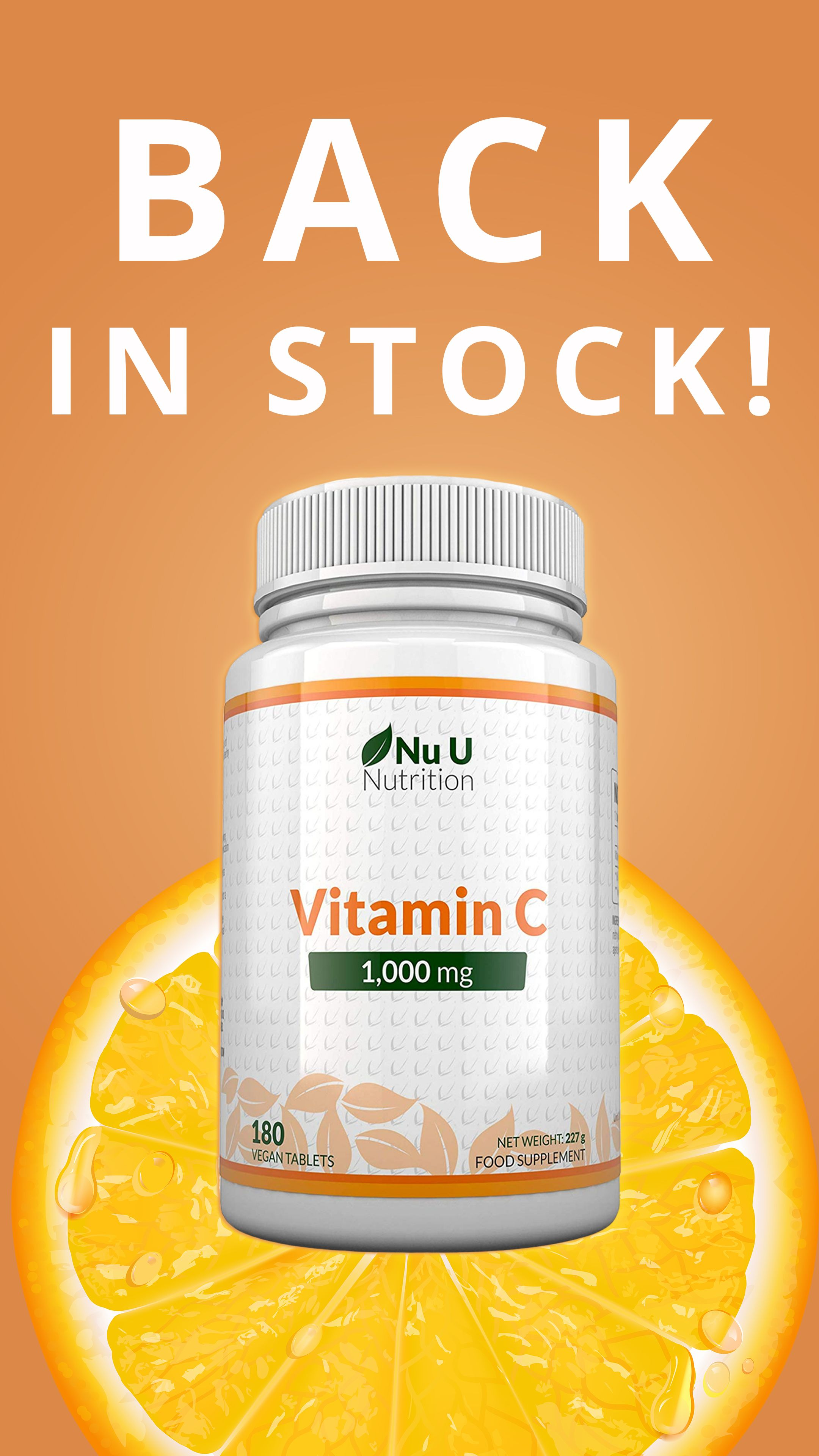 Vitamin C 1000mg, 180 Tablets, 6 Month Supply in 2020