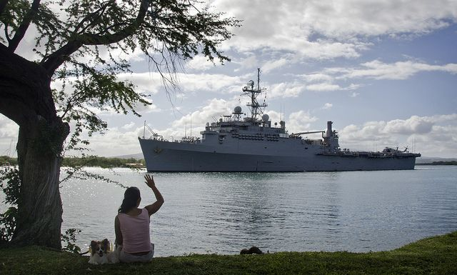 USS Cleveland departs Joint Base Pearl Harbor-Hickam on its final - us navy address for resume