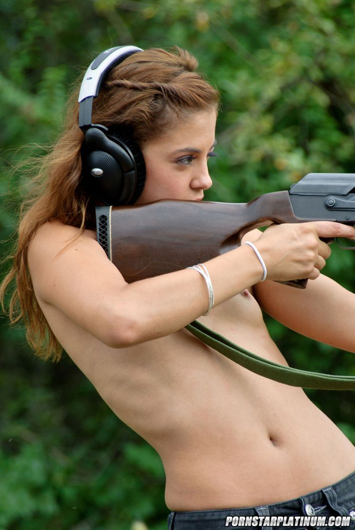 girls with guns topless