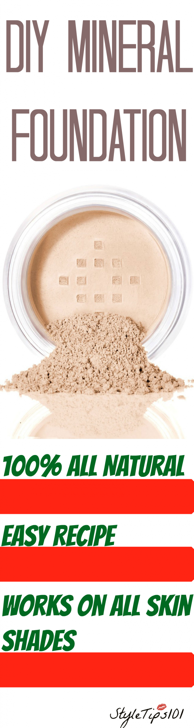DIY Mineral Foundation Mineral foundation, Coconut oil