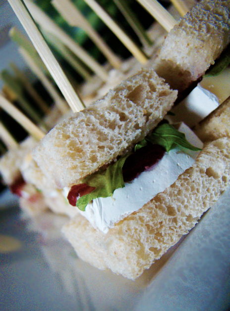 mini brie arugula cranberry sandwiches for a tea party bridal shower teasandwich teaparty wwwvspacestudiocom