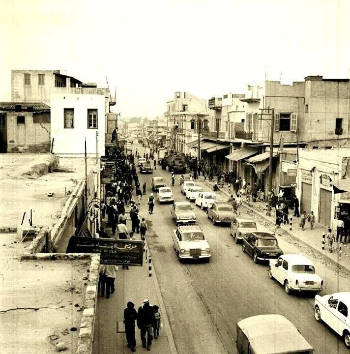 Gaza Gaza منظر عام في شارع عمر المختار عام 1964 منقول من صفحة أحمد مروات 93200 Palestine History Palestine Old Photos