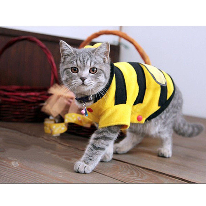 Cute Bee Design Pet Dog Polar Fleece Cloth Clothing Cat Clothes