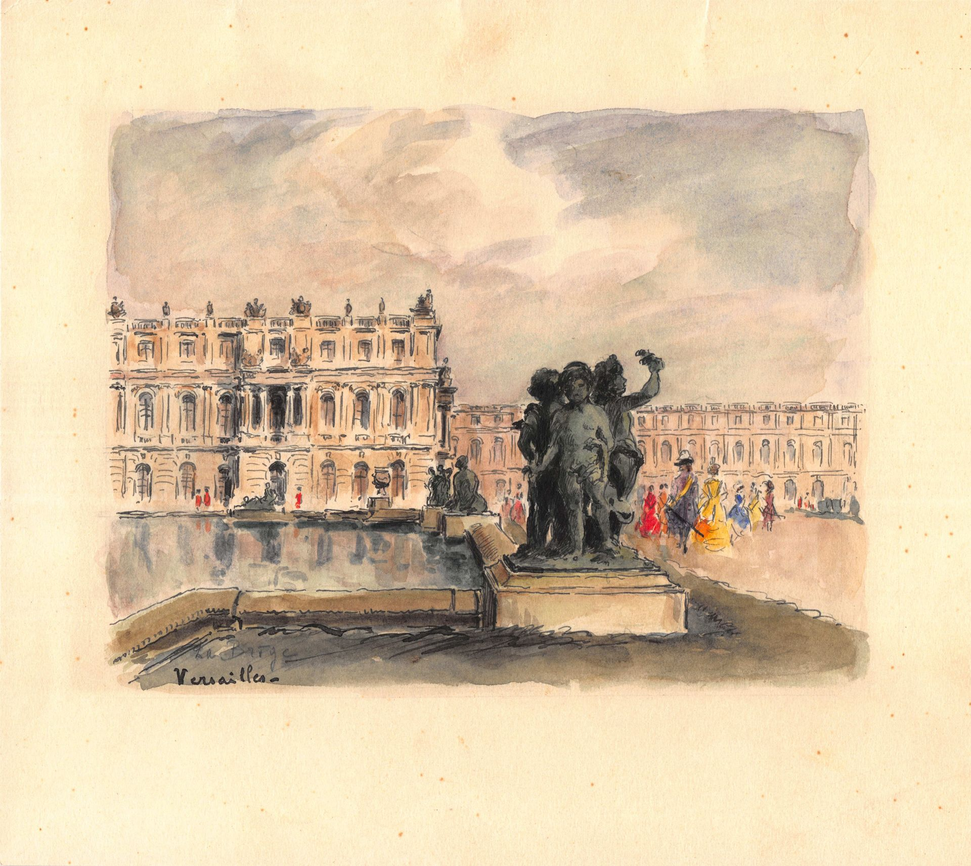 Authentic French Painting Of Versailles With Images French