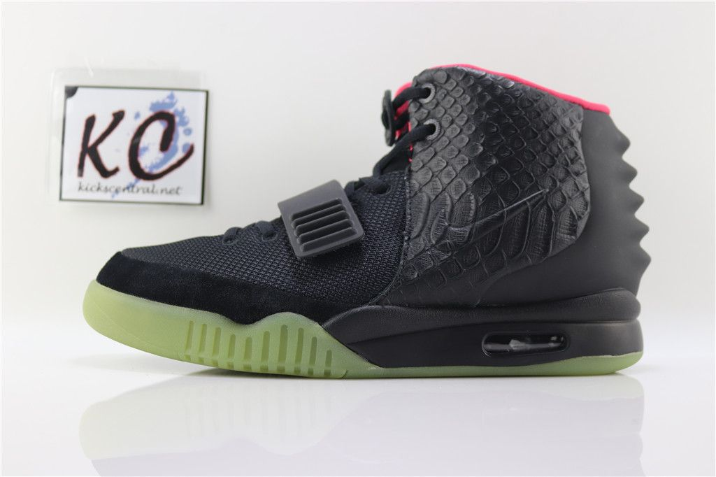 d264c1e52cc47 Nike Air Yeezy 2 Black Solar Red Glow In The Dark 2019 Outlet ...