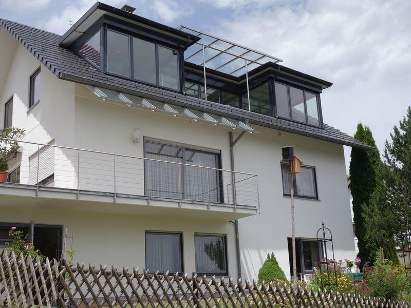 Dachloggia zur fw 1, und terrasse unten rechts zur fw 2 ...